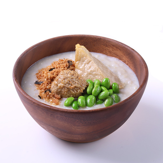 Soy Porridge (Vegetarian Meatball and Jade Tofu)